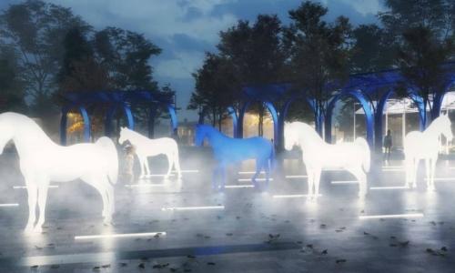 Лошади в тумане появятся в центре Троицка. По замыслу авторов ретро-проект – это взгляд в будущее из прошлого