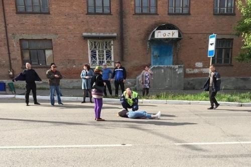 Переходила на зелёный. В Троицке патруль ГИБДД сбил девушку на улице Гагарина